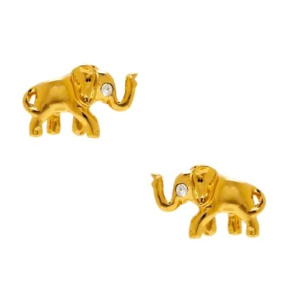 Kate Spade Golden Elephant Stud Earrings